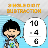 Single Digit Subtraction Worksheet Maker - Create Infinite