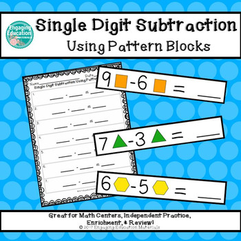 Single-Digit Subtraction Using Pattern Blocks