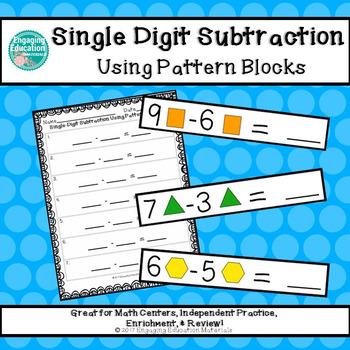 Single-Digit Subtraction Using Pattern Blocks