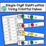 Single-Digit Subtraction Using Colorful Cubes