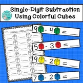 Single-Digit Subtraction Using Colorful Cubes