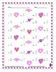 Single Digit Subtraction - Valentine's Day - Vertical