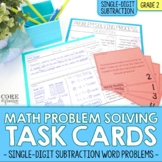 Single Digit Subtraction - Write To Explain Math Task Cards