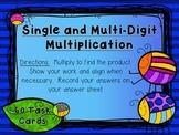 Single Digit and Multi-Digit Multiplication Task Cards