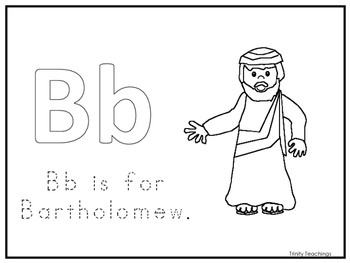 Single Disciple Bartholomew Worksheet.  Preschool-Kindergarten Bible Study.