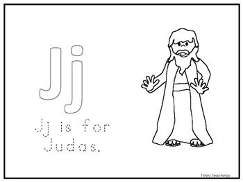 Single Disciple Judas Worksheet.  Jesus and His Disciples Preschool-Kindergarten