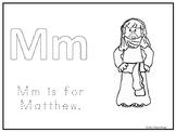Single Disciple Matthew Worksheet. Preschool-Kindergarten Bible Study.