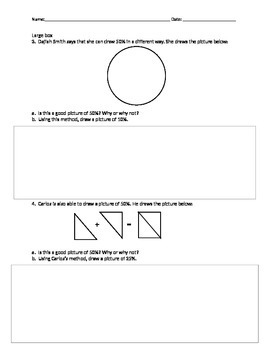 Single Guided Notes for 6th Grade Math