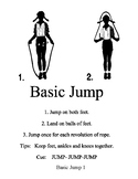 Single Jump Rope Station Task Cards