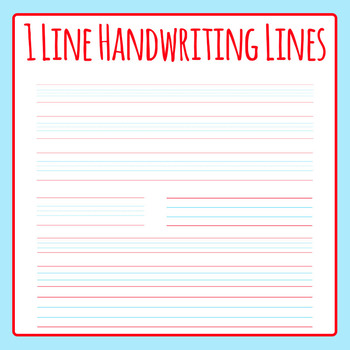 Single Line for Handwriting - Lined Paper Clip Art for Commercial Use