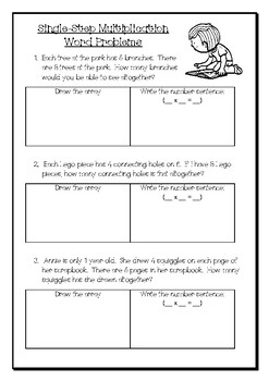 Single & Multi-Step Multiplication Word Problems