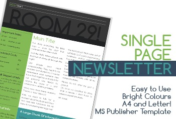 Single Page Newsletter (A4 and Letter)