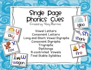 Single Page Phonics Cues