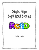 Sight Word Stories (single page)
