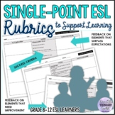 Single-Point ESL Assessment Rubrics Add-On (Speaking, Read