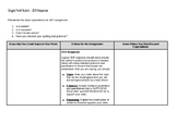Single Point Rubric - Claim, Evidence, Reasoning (CER) Responses