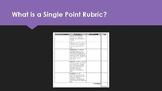 Single Point Rubric Grading Bundle