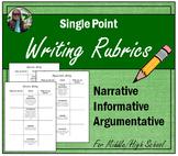 Single Point Writing Rubrics