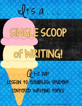 Single Scoop Lesson:  Helping Launch Writer's Workshop:  Choosing Topics