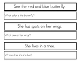Single Sentence WH Comprehension Worksheets