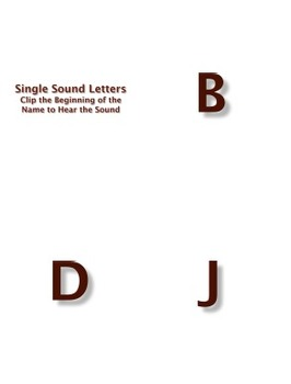 Single Sound Consonants PowerPoint and Flashcards