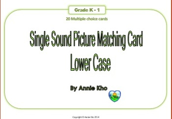 Single Sound Picture Matching Card