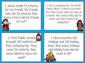 Single Step Addition and Subtraction Word Problems