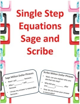 Single Step Equations Sage and Scribe