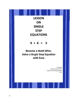 Equation- single step