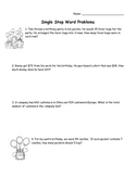 Single Step Word Problems