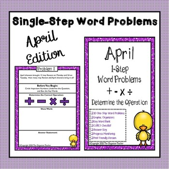 Single Step Word Problems All Operations (April Edition)