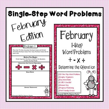 Single Step Word Problems All Operations (February Edition)