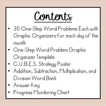 Single Step Word Problems All Operations (June Edition) - Summer