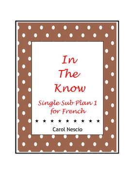 Single Sub * Plan 1 For French ~ In The Know