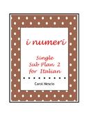 Single Sub * Plan 2 For Italian