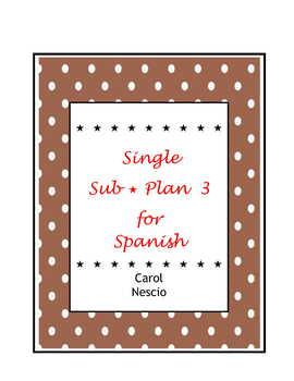 Single Sub * Plan 3 For Spanish