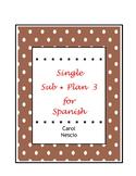 Single Sub * Plan 3 For Spanish ~ Can We Talk - Spanish ?