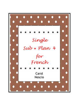 Single Sub * Plan 4 For French