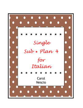 Single * Sub Plan 4 For Italian