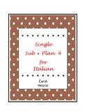 Single * Sub Plan 4 For Italian
