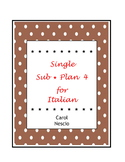 Single * Sub Plan 4 For Italian ~ Words Worth Knowing