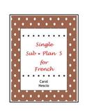 Single Sub * Plan 5 For French ~ Le savez-vous ?