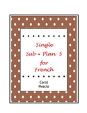 Single Sub * Plan 5 For French ~ Le savez-vous ?