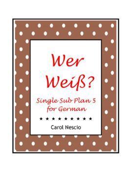 Single Sub * Plan 5 For German
