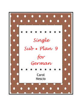 Single Sub * Plan 9 For German
