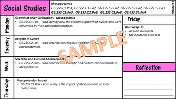 Single Subject Daily and Weekly Lesson Plan Template *Non-Editable*