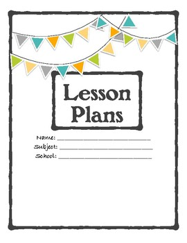 Single Subject Lesson Planning Sheets