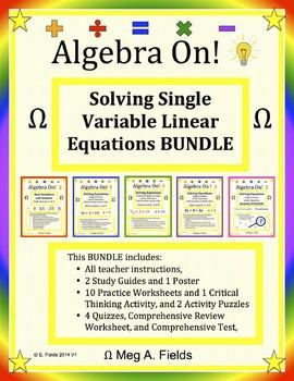 Single Variable Linear Equations BUNDLE