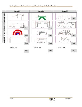 Single View Drafting Drawings