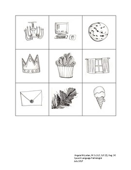 Single Word Picture Resource | Aphasia | Word Finding | Phonological Awareness